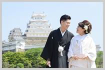 姫路城にて。