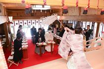 高嶺神社の式場です